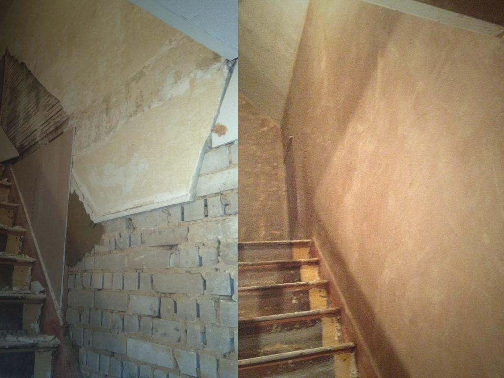 Plastering Before & After | Matts Tiling & Plastering